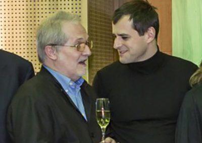 Holger Falk with Peter Eötvös