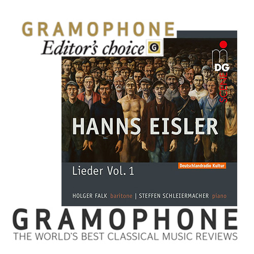 "Eisler CD Vol. 1: ""Editor's Choice"" Magazine ""Gramophone"""