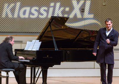 Klassik:XL Konzert. Steffen Schleiermacher und Holger Falk im Konzertsaal der Universitaet der Kuenste (UdK) Berlin, 08.10.2016