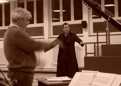 Orfeo / Monteverdi / Holger Falk at Rehearsal with G. Garrido