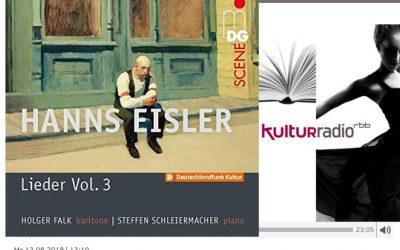 Hanns Eisler: Lieder Vol. 3 – rbb Kulturradio CD-Kritik