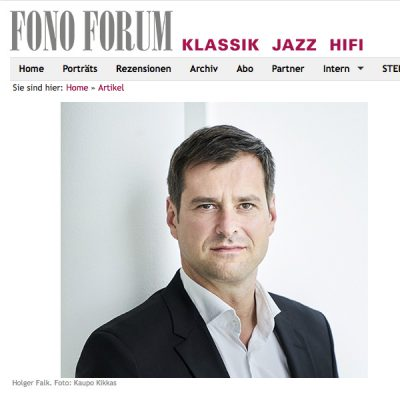 Holger Falk becomes Professor for art song and contemporary music at University of the Arts Graz (A) – Report FONO FORUM