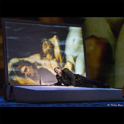 "Holger Falk sings the worldpremiere of Manfred Trojahns new Monoopera ""Ein Brief"", based on the Monologue of Hugo von Hofmannsthals famous Chandos-Brief at the Opera Bonn"